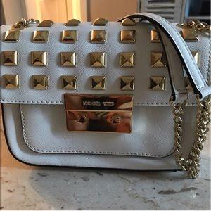 Michael Kors White and Gold crossbody Bag